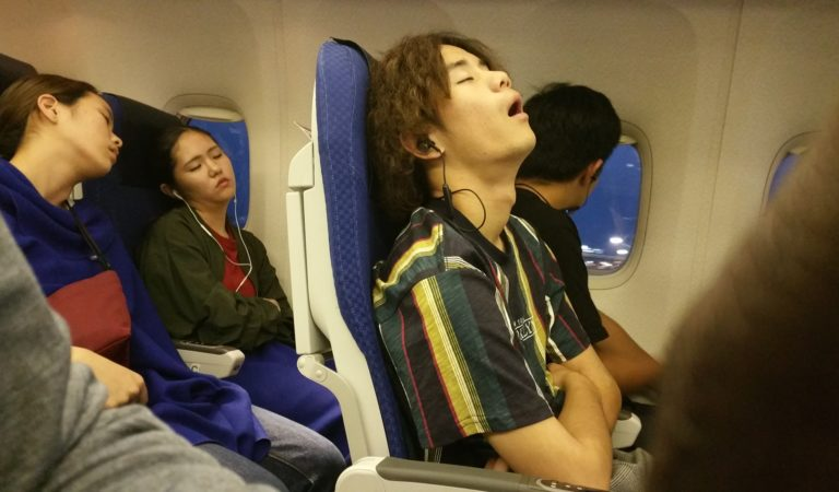 What You Look Like When You Sleep On The Plane