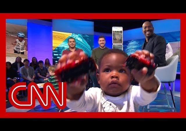 CNN's Van Jones meets viral hugging toddlers