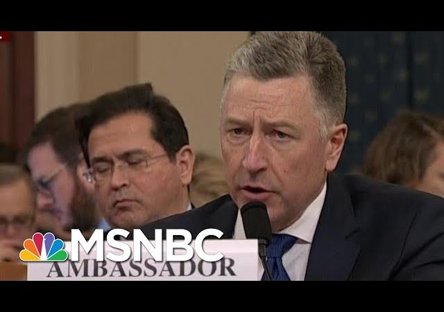 Kurt Volker Revises Previous Testimony Discrepancies | Morning Joe | MSNBC