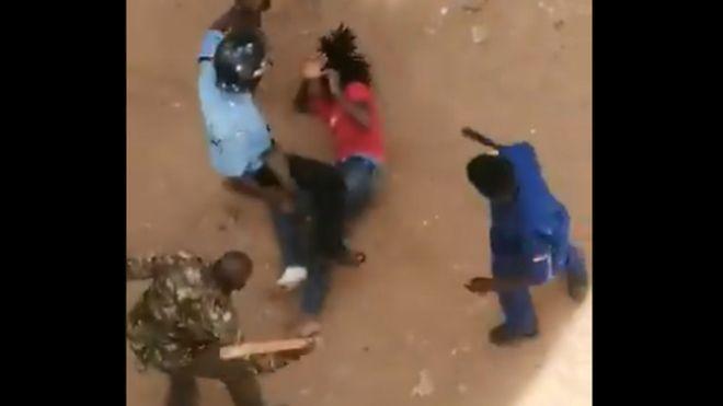 Kenyans rage against police brutality after beating video