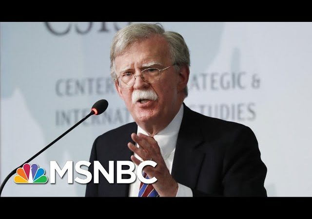 NYT: John Bolton Was Worried Trump Was Doing Favors For Autocratic Leaders   The 11th Hour   MSNBC