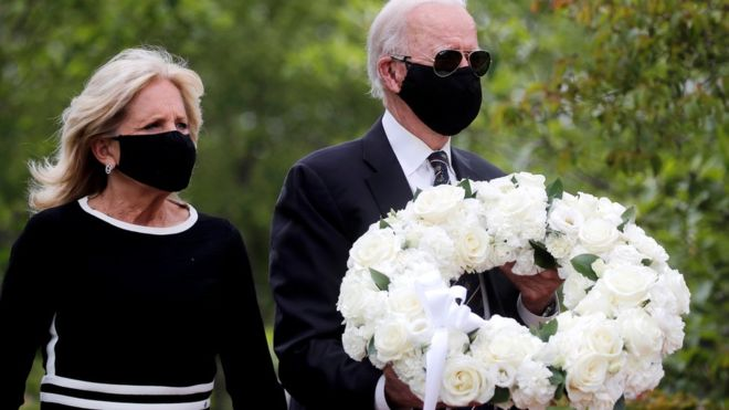 Coronavirus: Joe Biden emerges from quarantine on Memorial Day