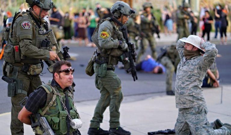 Man shot in Albuquerque, N.M., during protest over Spanish conqueror's statue