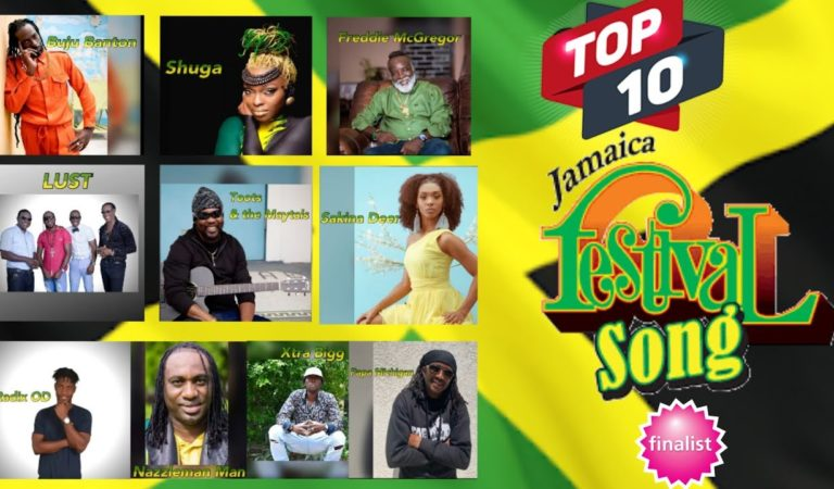 Top 10 Finalists For The Jamaica Festival Song Competition