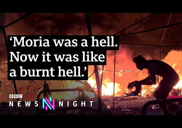 Lesbos: Who started the fire at Europe's largest refugee camp? – BBC Newsnight