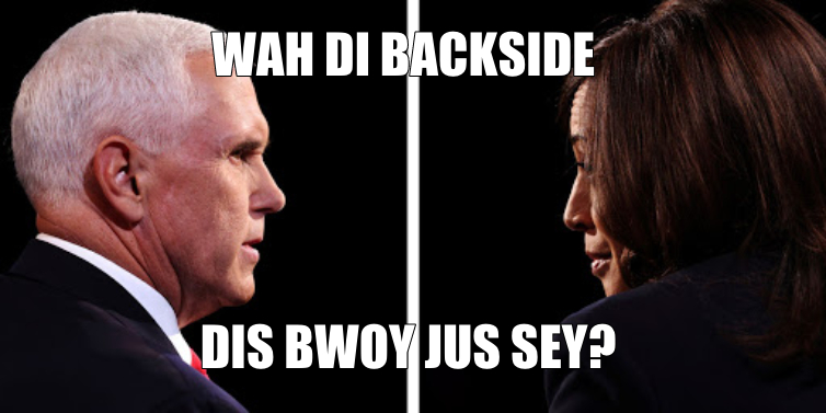MEME: Kamala Harris Inner Jamaican Voice During Vice Presidential Debate